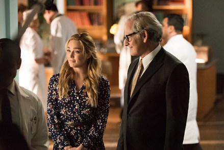 """DC's Legends of Tomorrow -- """"Night of the Hawk"""" -- Image LGN108a_0046.jpg -- Pictured (L-R): Caity Lotz as White Canary and Victor Garber as Professor Martin Stein -- Photo: Dean Buscher/The CW -- © 2016 The CW Network, LLC. All Rights Reserved"""