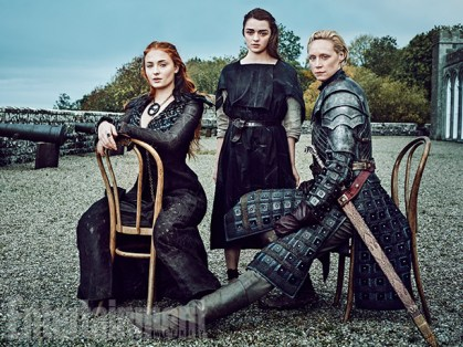 Sophie Turner, Maisie Williams, and Gwendoline Christie (Image Credit: MARC HOM for EW)