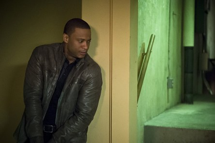 "Arrow -- ""Genesis"" -- Image AR420a_0418b.jpg -- Pictured: David Ramsey as John Diggle -- Photo: Diyah Pera/The CW -- © 2016 The CW Network, LLC. All Rights Reserved."
