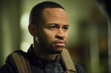 "Arrow -- "" Genesis"" -- Image AR420a_0124b.jpg -- Pictured: Eugene Byrd as Andy Diggle -- Photo: Diyah Pera/The CW -- © 2016 The CW Network, LLC. All Rights Reserved."
