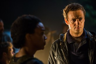 Ross Marquand as Aaron, Sonequa Martin-Green as Sasha Williams- The Walking Dead _ Season 7, Episode 1 - Photo Credit: Gene Page/AMC