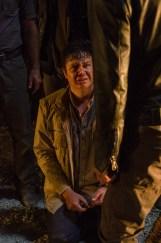 Josh McDermitt as Dr. Eugene Porter, Jeffrey Dean Morgan as Negan- The Walking Dead _ Season 7, Episode 1 - Photo Credit: Gene Page/AMC