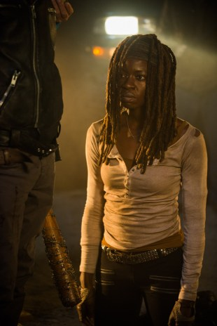 Danai Gurira as Michonne- The Walking Dead _ Season 7, Episode 1 - Photo Credit: Gene Page/AMC