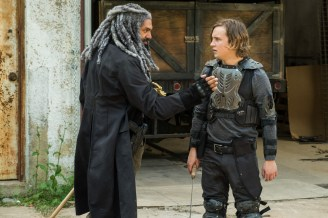 Khary Payton as Ezekiel, Logan Miller as Benjamin - The Walking Dead _ Season 7, Episode 2 - Photo Credit: Gene Page/AMC