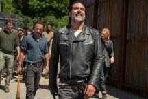 Austin Nichols as Spencer Monroe, Andrew Lincoln as Rick Grimes, Jeffrey Dean Morgan as Negan, Austin Amelio as Dwight- The Walking Dead _ Season 7, Episode 4 - Photo Credit: Gene Page/AMC