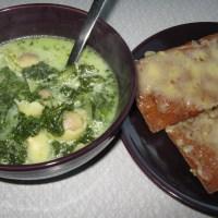 Spenat- och grönkålssoppa