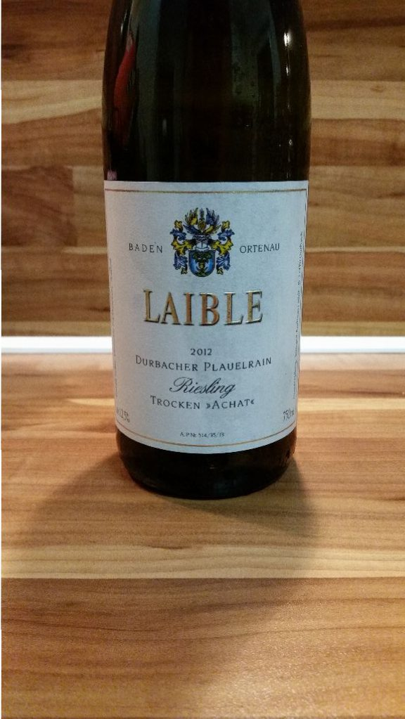 "Andreas Laible, Baden – Durbacher Plauelrain Riesling ""Achat"" trocken 2012"