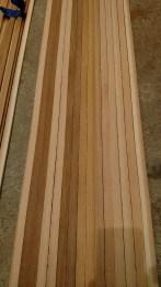 Resulting canoe strips