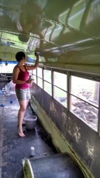 Scrubbing the interior