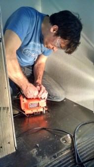 Cutting shower drain