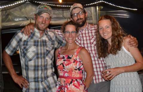 Farmers from We Grow and Red Door Family Farm at the Annual Farm to Table Dinner at We Grow LLC
