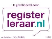 deze opleiding is gevalideerd door registerleraar.nl voor 18 RU