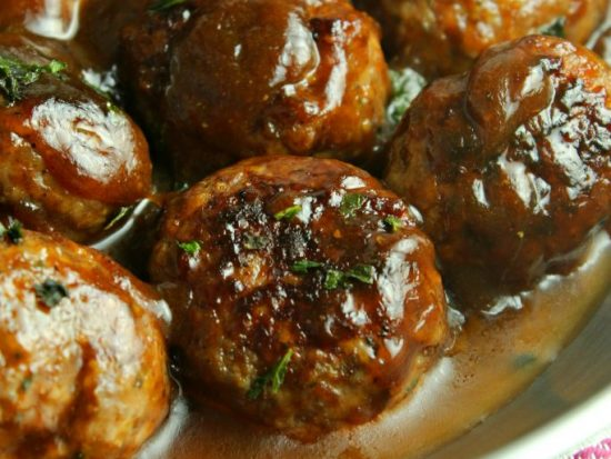 20-Minute Chinese Port Meatballs