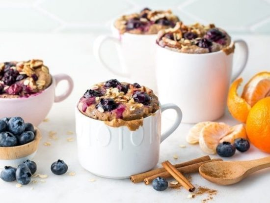 Blueberry Breakfast Mug Cake