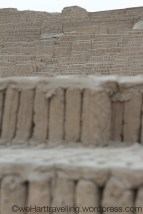 Handmade mud bricks assembled to withstand earthquates...in 400AD that is pretty impressive