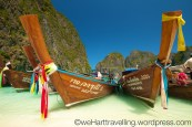 Tradtional Thialand long boats in their finery
