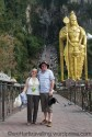Our visitors with the latest addition to the Batu Caves