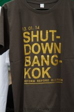 T-shirts for sale with demonstration slogans