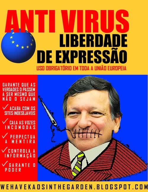 Durao Barroso calar a internet