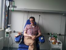 Just before 9 monthly infusion in Duesseldorf Uniklink in Germany (2013)