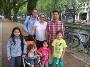 Ramin and his sister, Fiona and family
