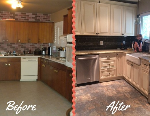 Small Kitchen renovation Before & After