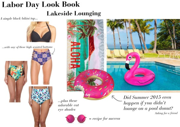 labor day pool donut highwaisted bikini we heart beauty