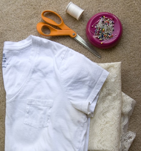 Diy Lace T 2 DIY: T shirt to Lacy Tank