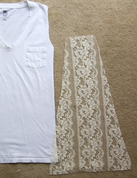 Diy Lace T 4 DIY: T shirt to Lacy Tank