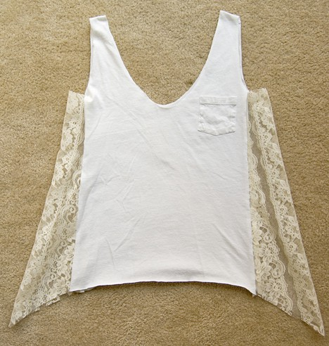 Diy Lace T 8 DIY: T shirt to Lacy Tank