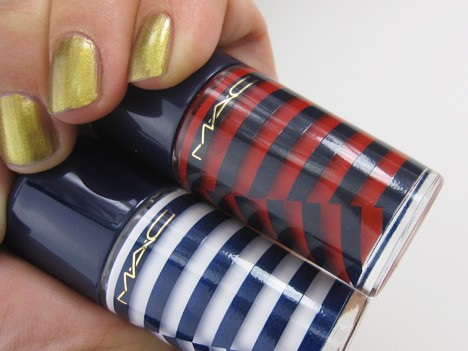 MACheysailorM MAC Hey, Sailor! Cheeks, Nails & Body   review, photos & swatches