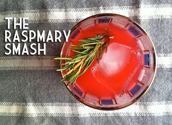 Raspberry Rosemary cocktail recipe 1 Artisanal Cocktail: The Raspmary Smash