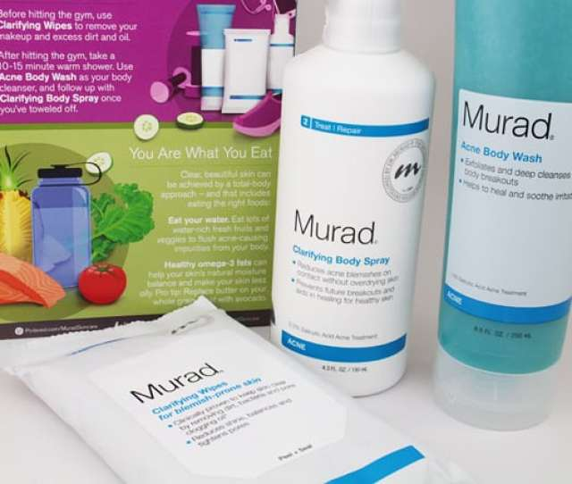 Murad Acne Body Products  Body Acne Murad Can Help