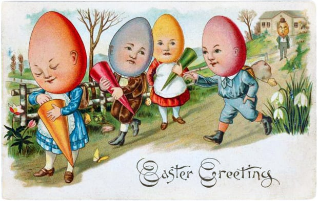 vintage easter card 3 Things: Happy Easter