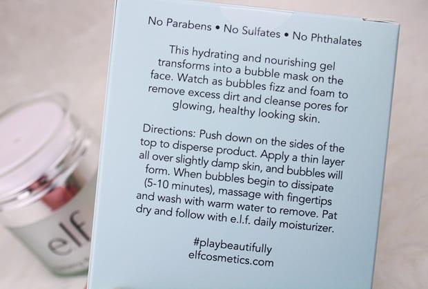elf Hydrating Bubble Mask 2 Bubbles make everything better: e.l.f. Hydrating Bubble Mask review