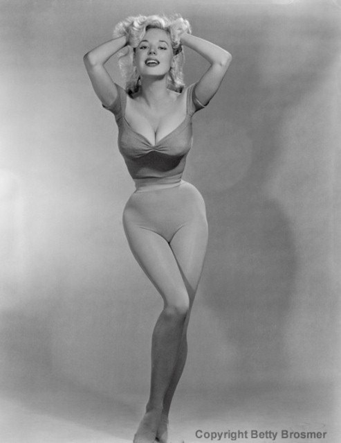 Betty Brosmer's tiny waist