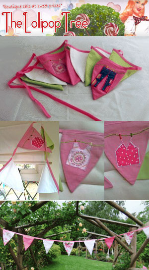 Win handmade pink bunting