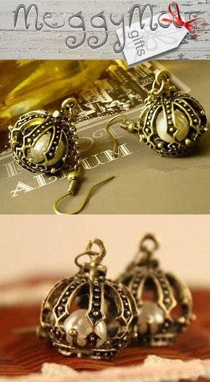 vintage style pearl earrings