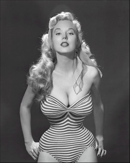 c6dab39fbbd How did 1950s models get such tiny waists  The low down on waist training –  We Heart Vintage blog  retro fashion