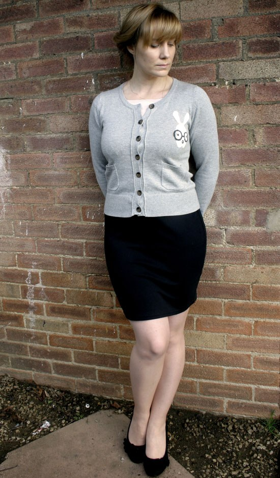 vintage outfit seamed tights