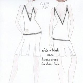 Fashion Sketch: Flapper Dress for Clara Bow