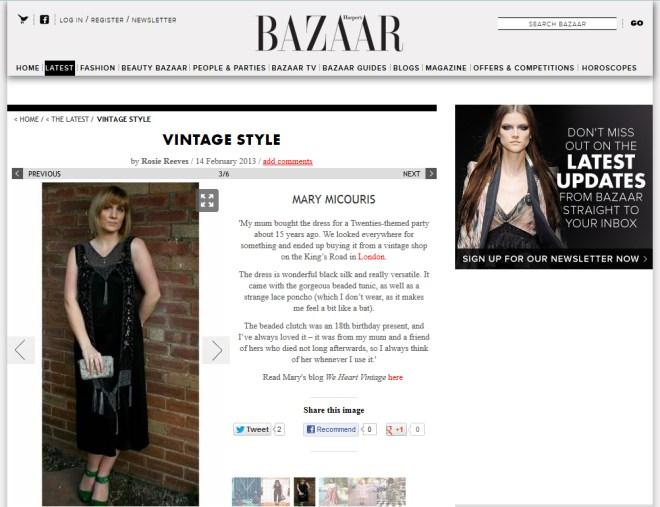 Vintage Style Harpers Bazaar