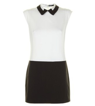 Andrea Dress in Black & White