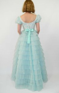 1950s tiered tulle dress by Wear It Well Vintage