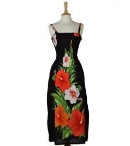 Vintage Black Lily Maxi Dress