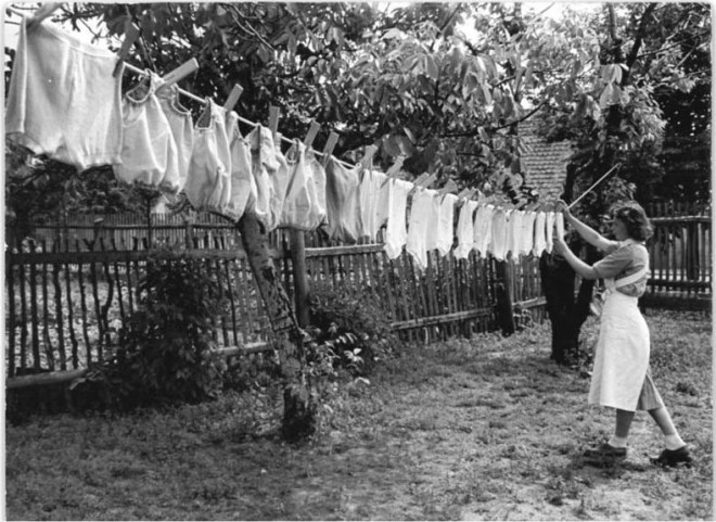 washing vintage clothes