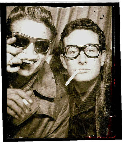 Buddy Holly in a photo booth