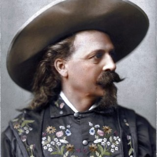 Black and white vs re-colour: Buffalo Bill in a flowery coat