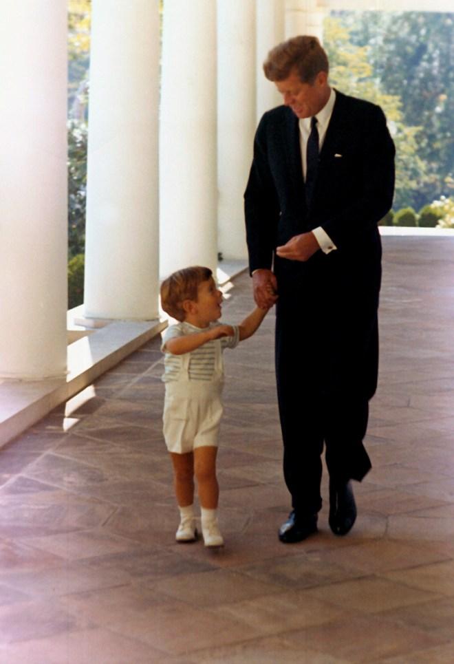John F Kennedy and JFK Jr