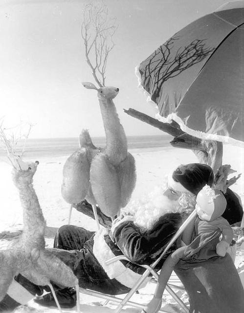 1960s beach santa